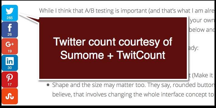 Sumome plus TwitCount